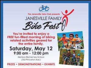 Janesville Family Bike Fest @ Harrison Elementary School
